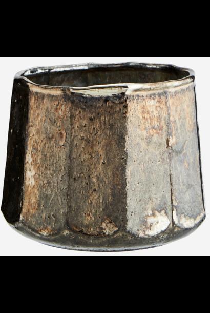 Vaas votive Silver oxidised