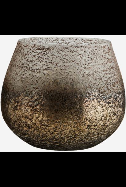 Vaas glass votive copper