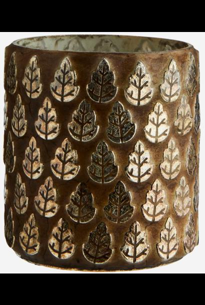 Vaas votive leaf mosaics cement