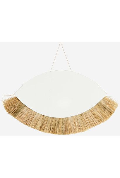 Spiegel hanging grass frame 45x25cm Natural
