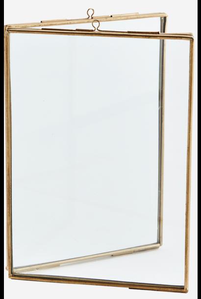 Fotolijst standing double 13x18cm Gold