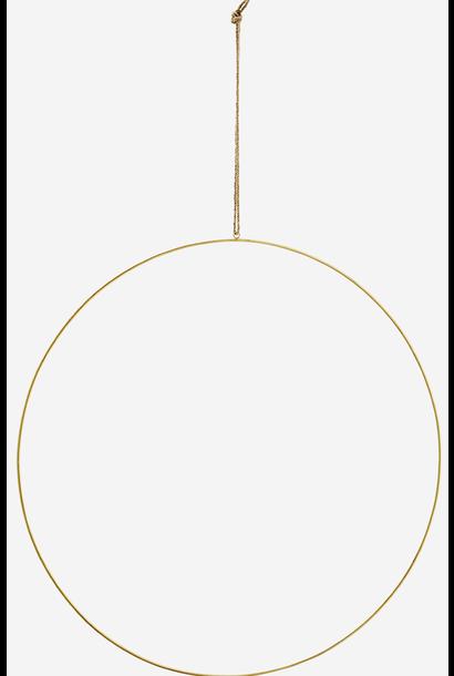Hangdecoratie wire ring  Ø60cm Gold