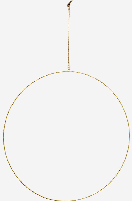 Hangdecoratie wire ring  Ø60cm Gold-1