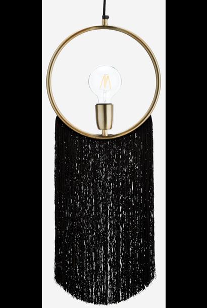 Hanglamp Pendant W//Tassels 27x67cm Black
