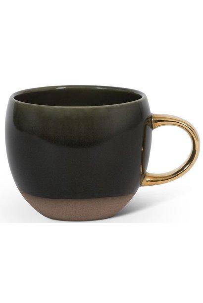 Kop reactive glaze mug green