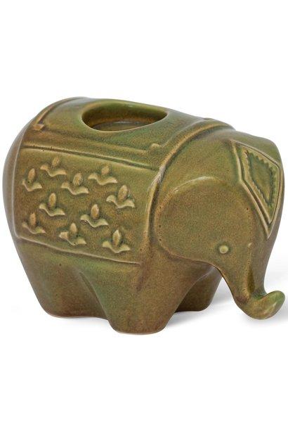 Waxinehouder Elephant Green