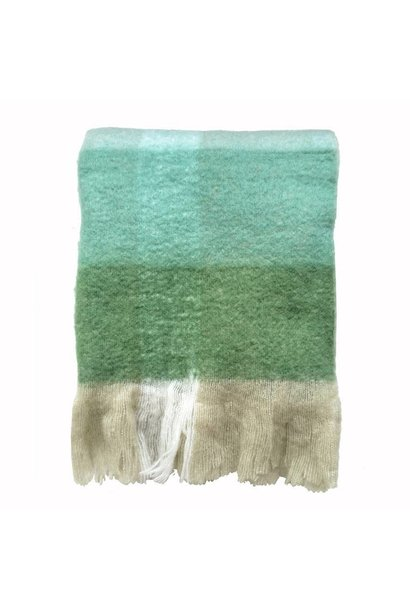 Woondeken Pea green mohair throw