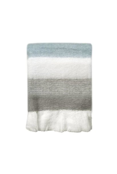 Woondeken Light grey mohair throw