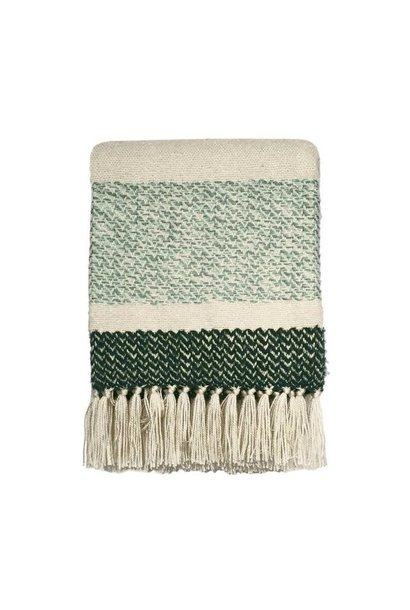 Woondeken Berber grainy green throw