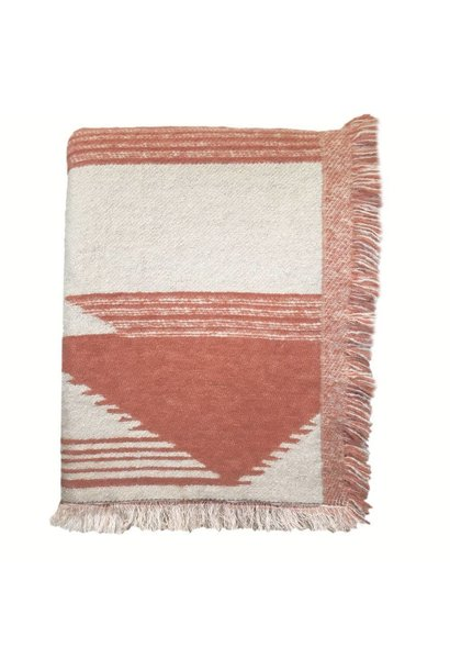 Woondeken Nomad mahogany pink throw