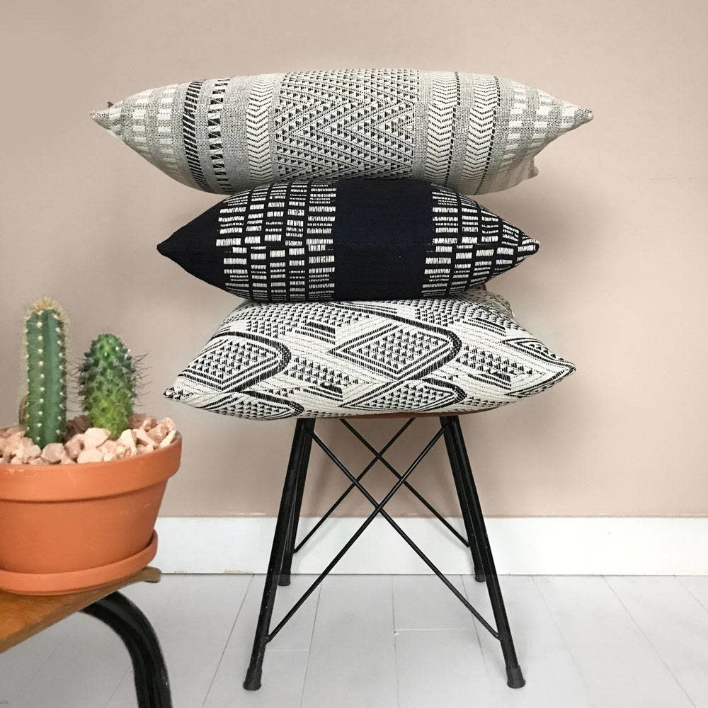 Kussen Raffia cotton offwhite cushion-2