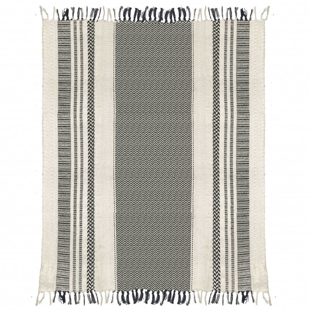 Woondeken Cheyenne stripe offwhite throw-3