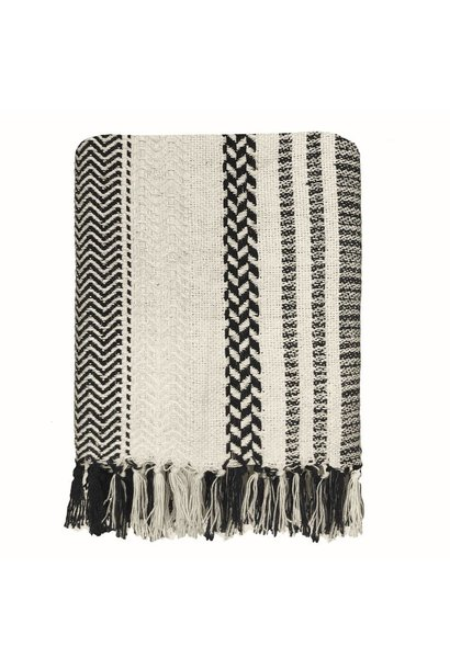 Woondeken Cheyenne stripe offwhite throw