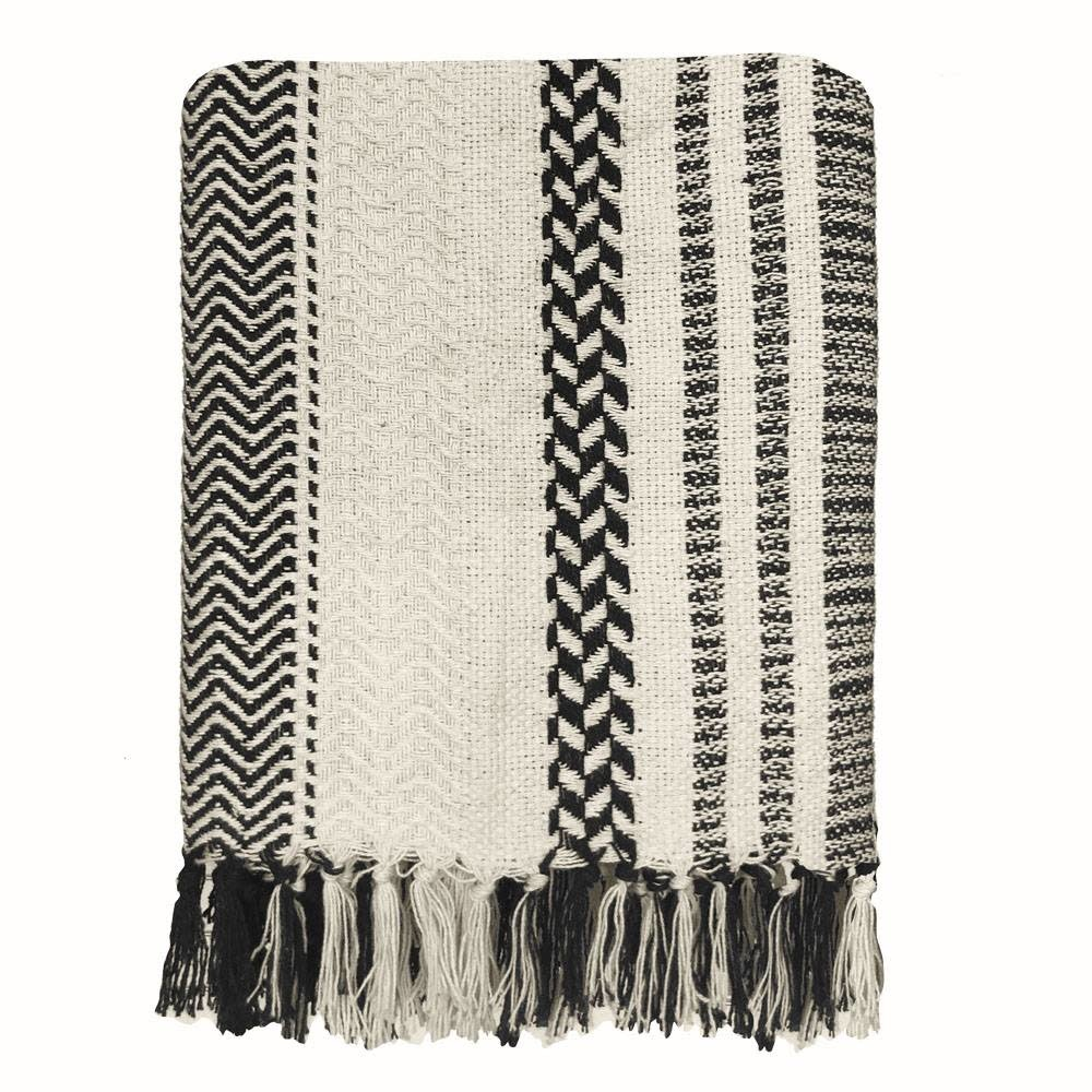Woondeken Cheyenne stripe offwhite throw-1