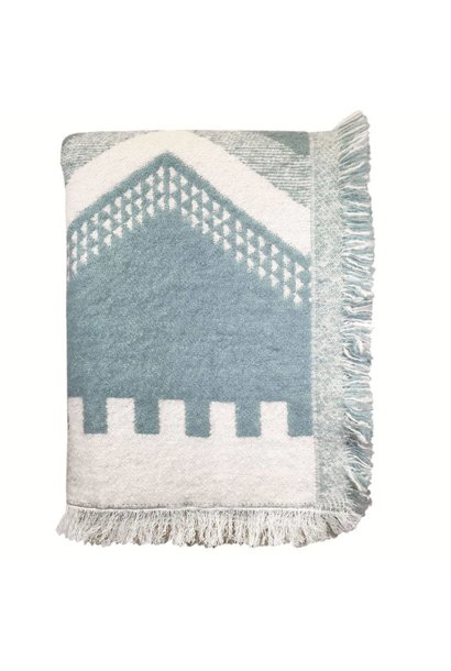 Woondeken Zig zag fun misty blue throw
