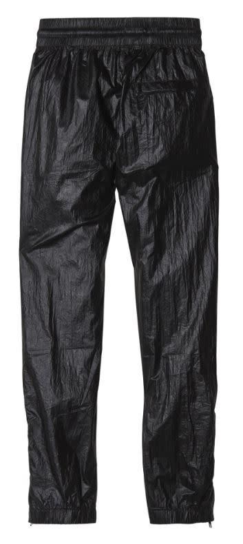 Broek jogger metallic black-3