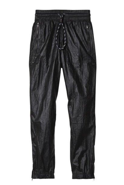 Broek jogger metallic black
