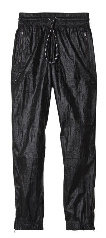 Broek jogger metallic black-1
