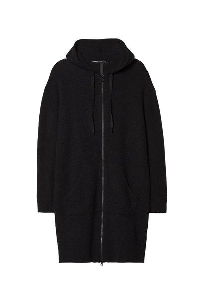 Trui hoody merino wool Black