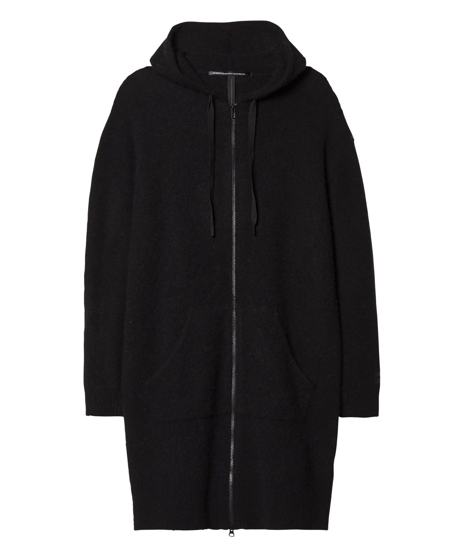 Trui Hoody Merino wool black-1