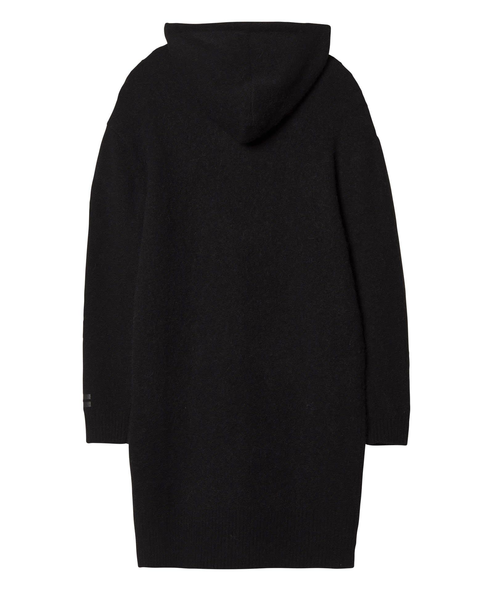 Trui Hoody Merino wool black-4