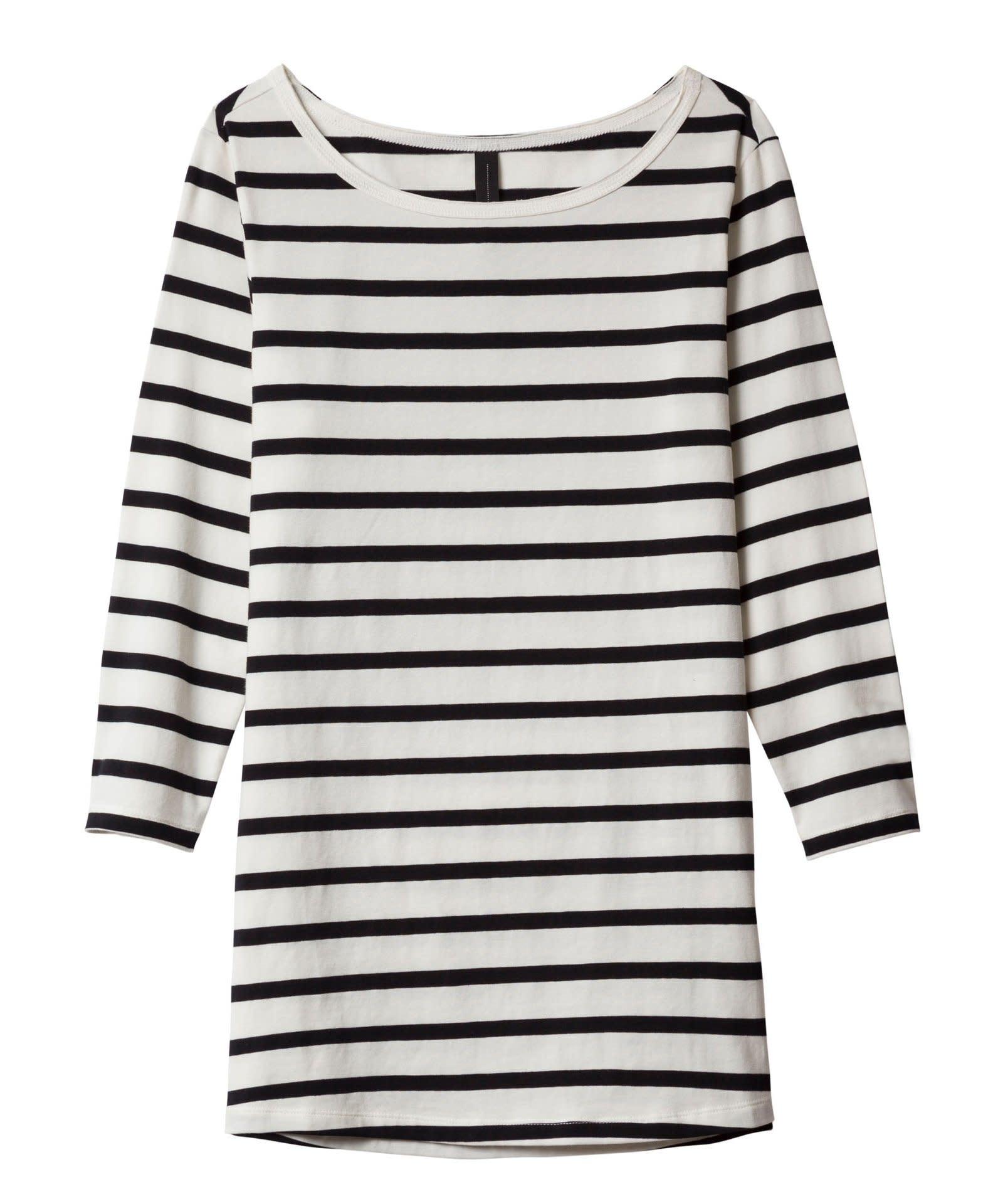 Shirt slim fit boat neck tee-1