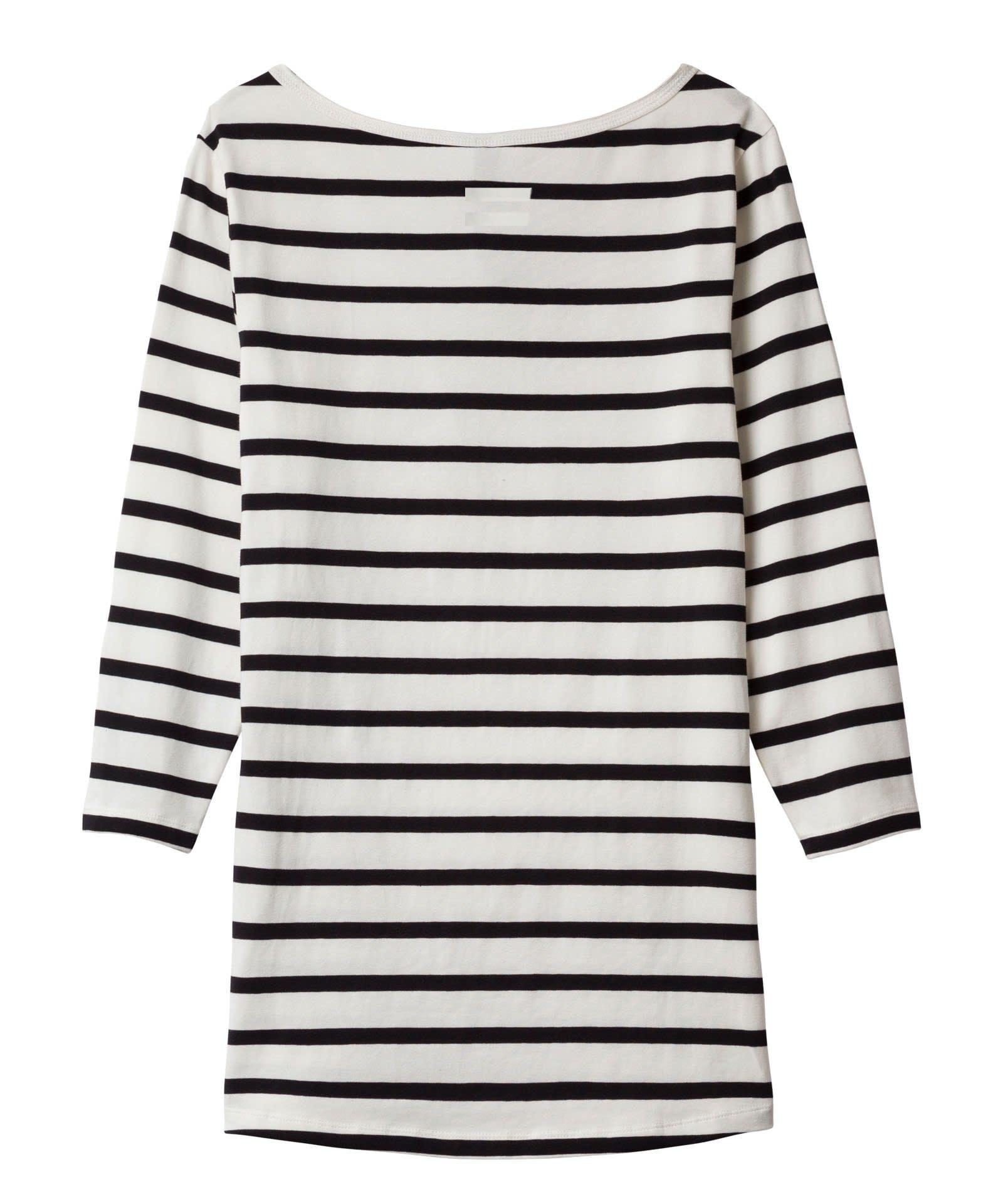Shirt slim fit boat neck tee-2