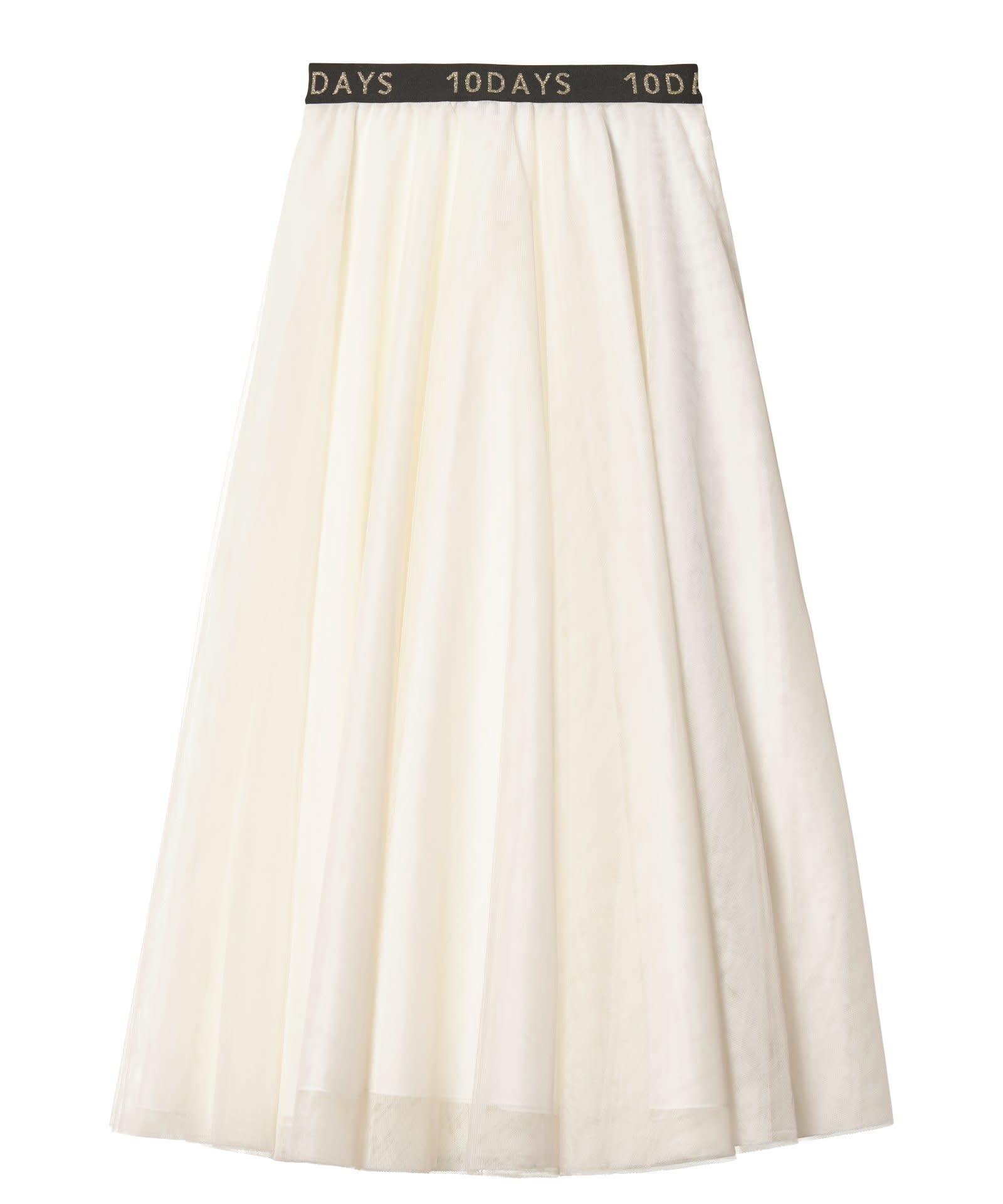 Rok Tulle skirt white-4