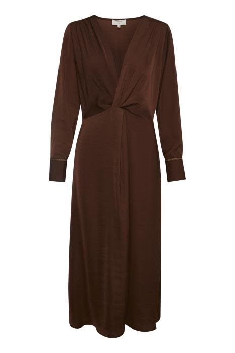 Jurk Christy recycled polyester coffee-1