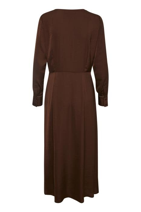 Jurk Christy recycled polyester coffee-3