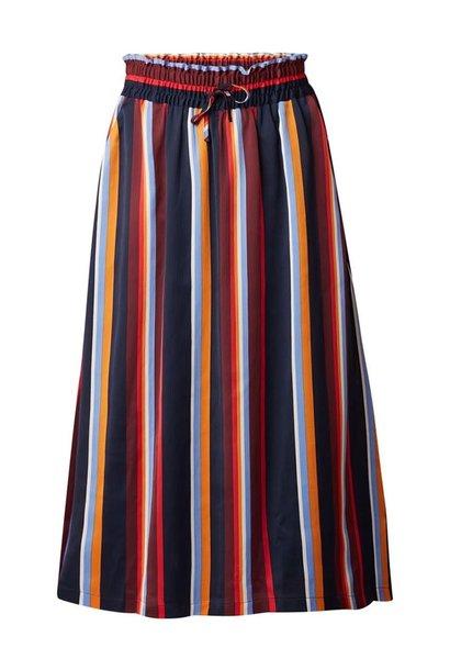 Rok Knapp skirt multi stripe satin