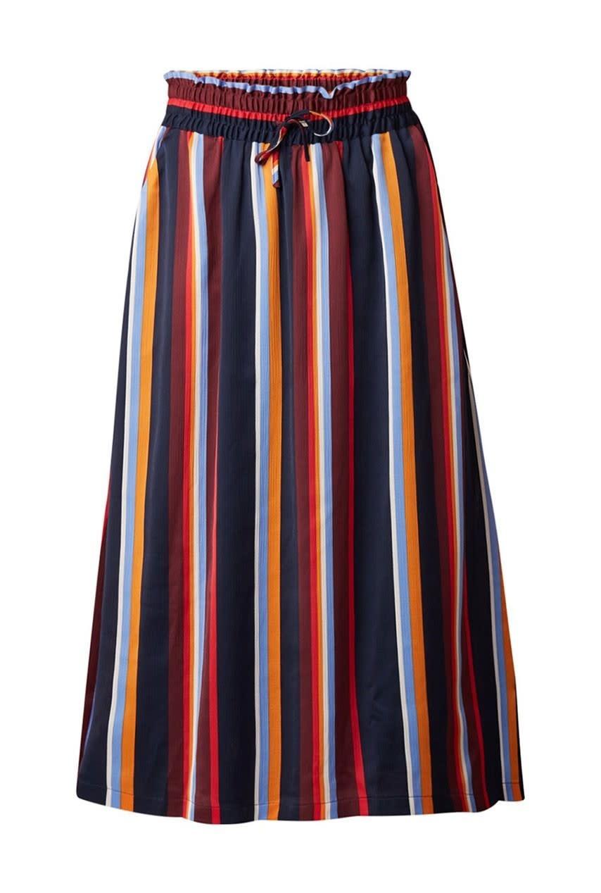 Rok Knapp skirt multi stripe satin-1