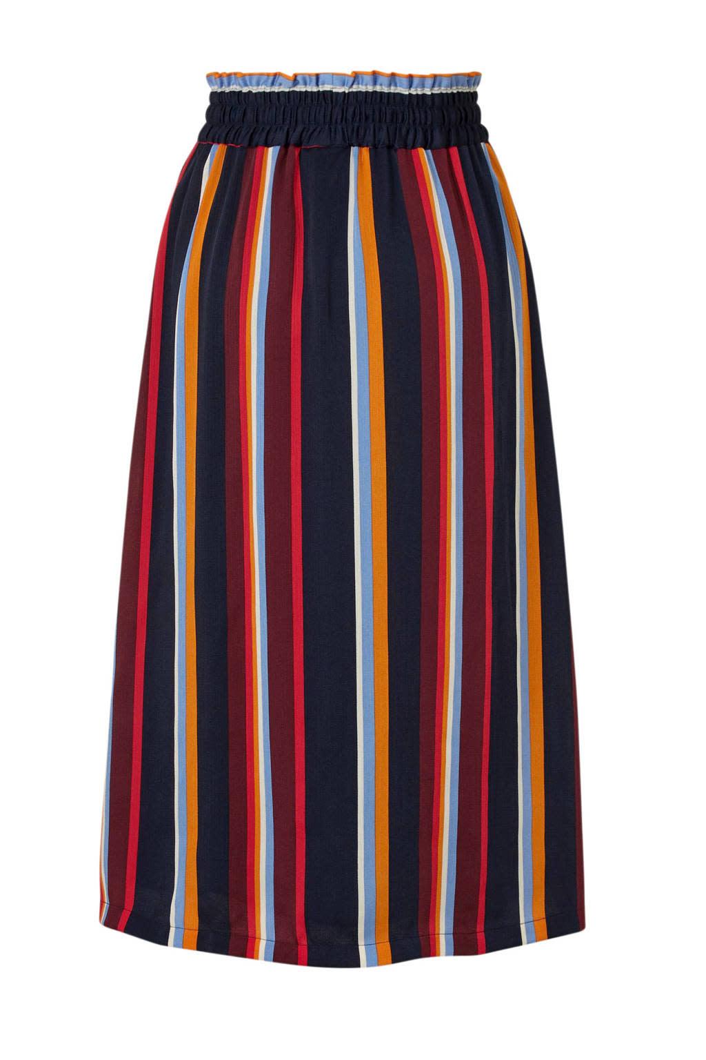 Rok Knapp skirt multi stripe satin-3