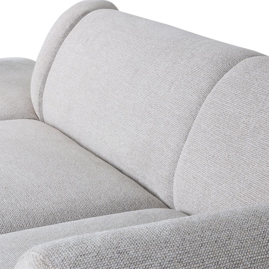 Bank jax couch: element left, sneak, light grey-4