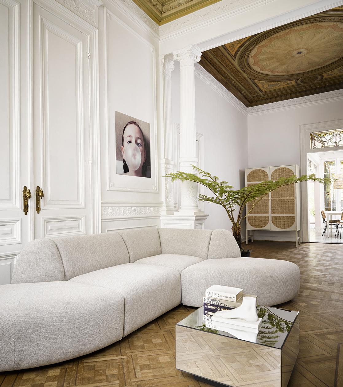 Bank jax couch: element left, sneak, light grey-2