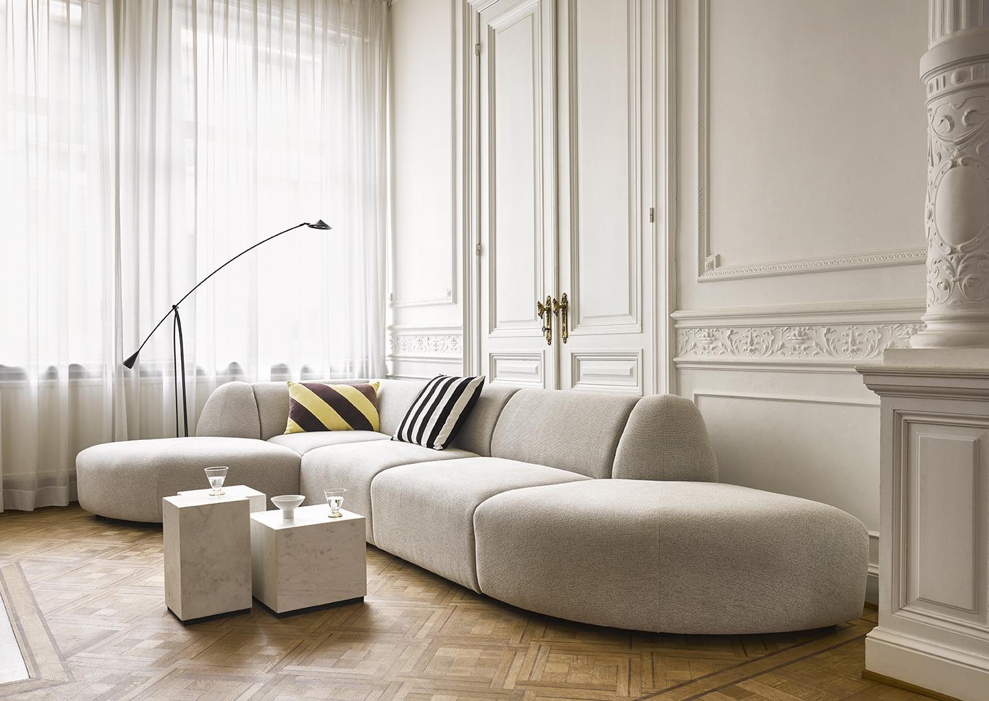 Bank jax couch: element left, sneak, light grey-3