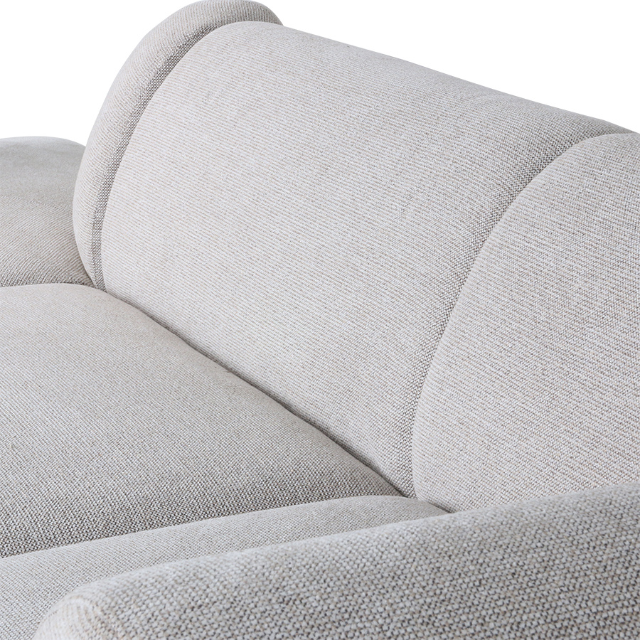 Bank jax couch: element middle, sneak, light grey-4