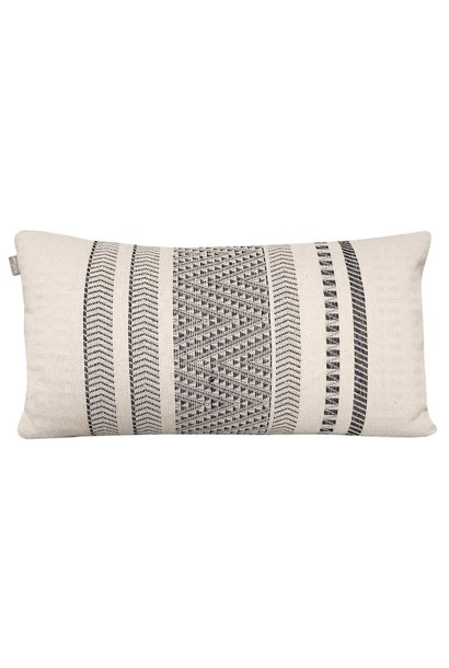 Kussen Native stripe cotton offwhite 35x65cm