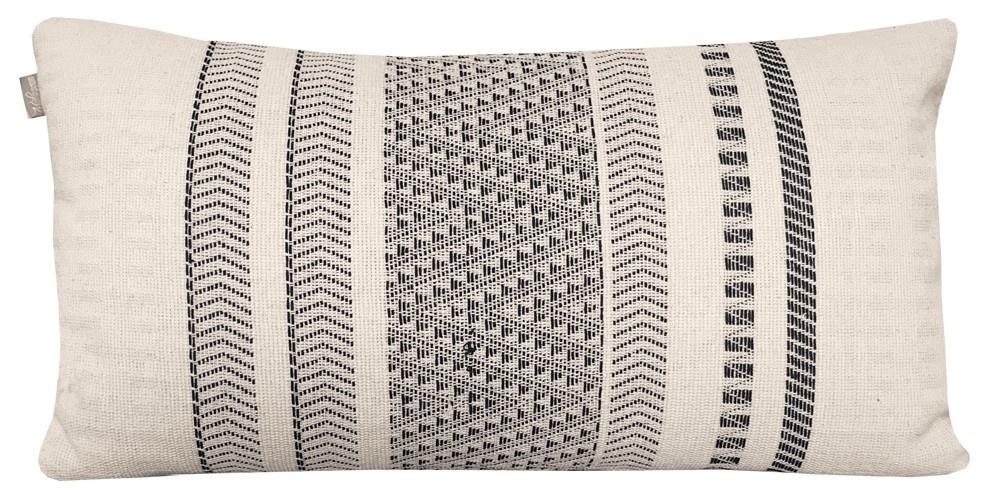 Kussen Native stripe cotton offwhite 35x65cm-1
