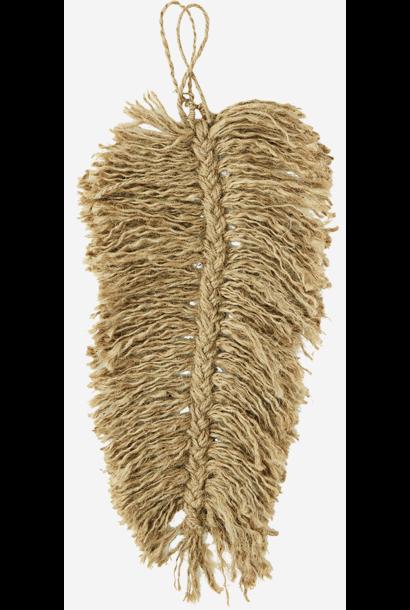 Veer jute leaf 40cm Natural