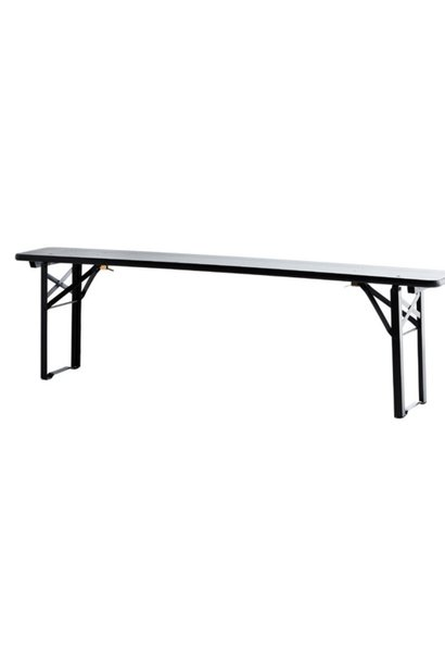 Bank foldable bench black