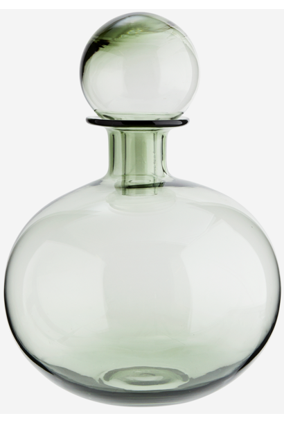 Fles round glass 20x30cm Green