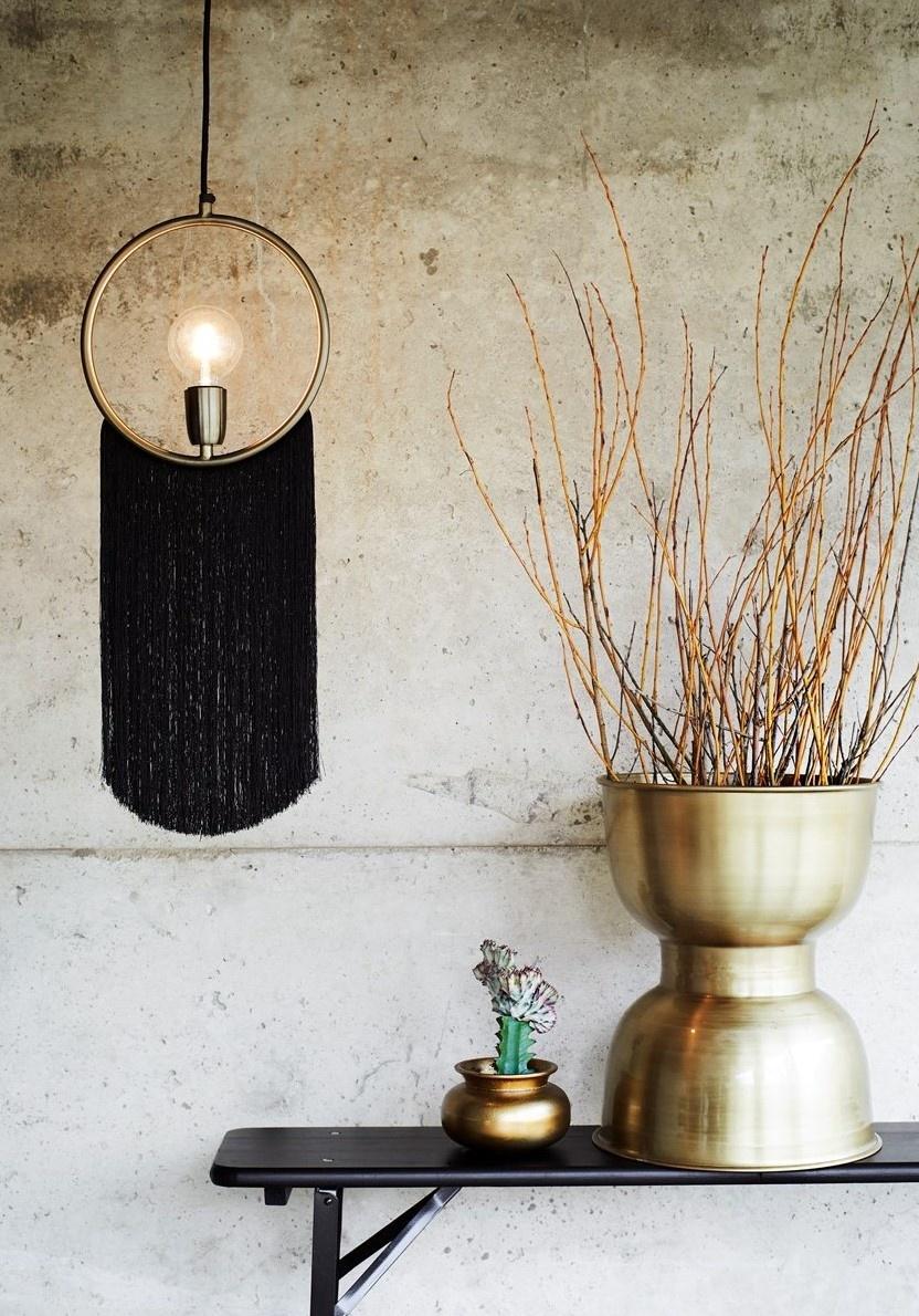 Hanglamp Pendant W//Tassels 27x67cm Black-2