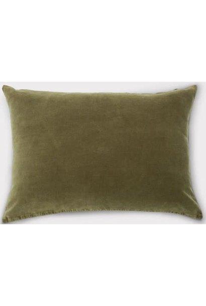 Kussen Vintage velvet 60x40cm Green