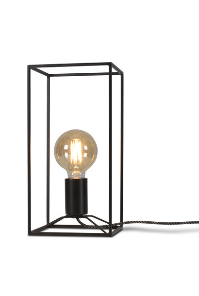 Tafellamp Antwerp rechthoek zwart