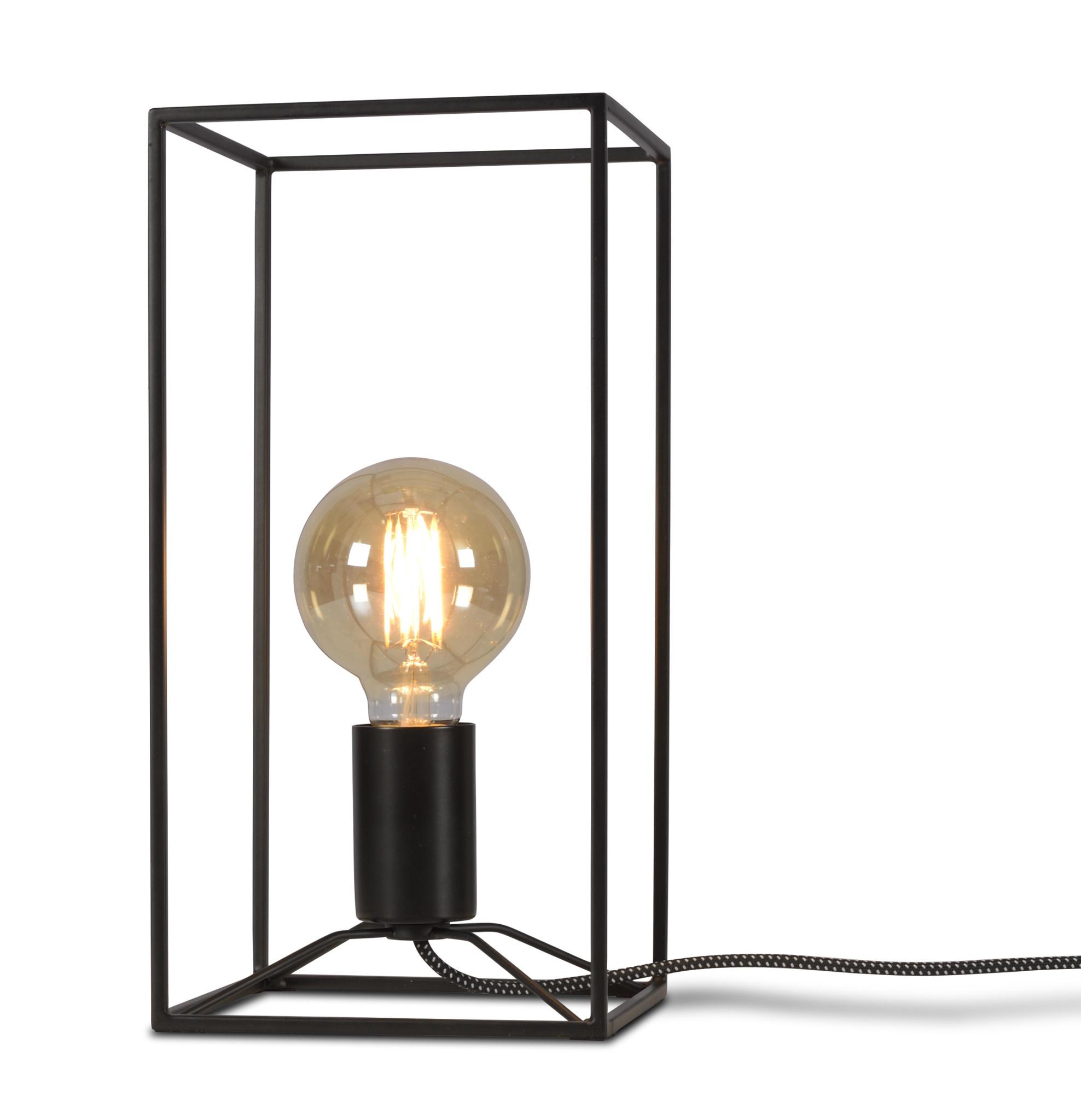 Tafellamp Antwerp rechthoek zwart-1