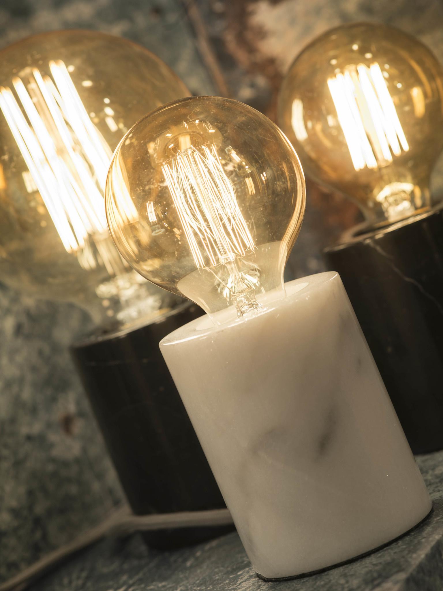 Tafellamp Athens glas marmer wit-3