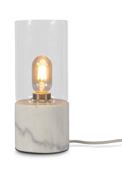 Tafellamp Athens glas marmer wit