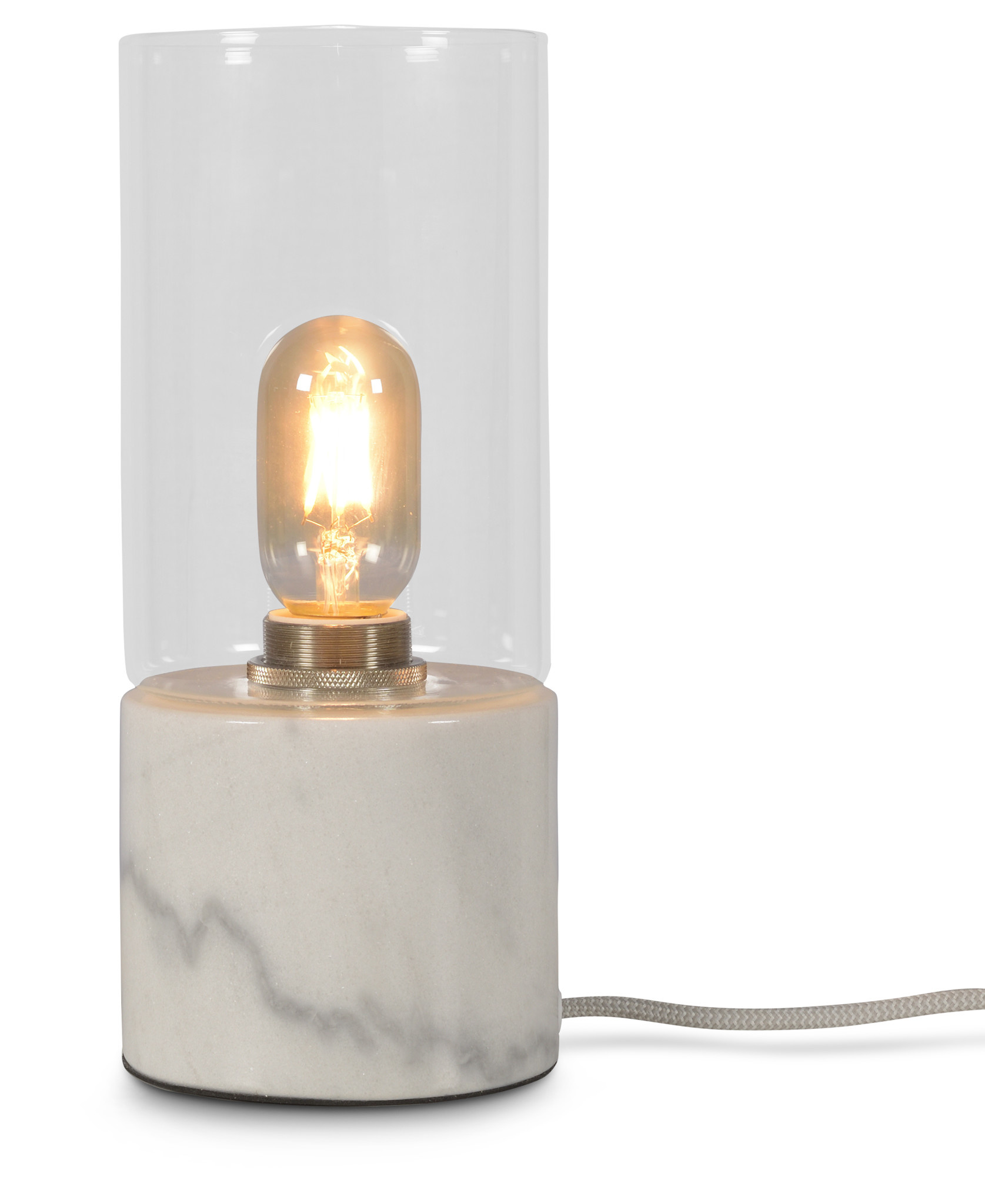 Tafellamp Athens glas marmer wit-1