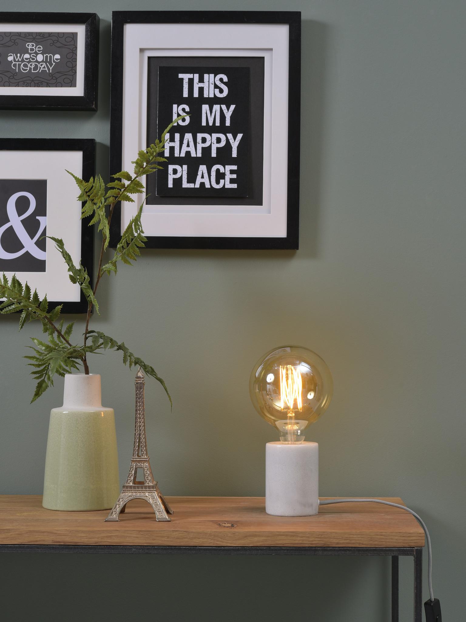 Tafellamp Athens glas marmer wit-2